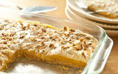 Pumpkin Pie Cheesecake with Pretzel Crust.