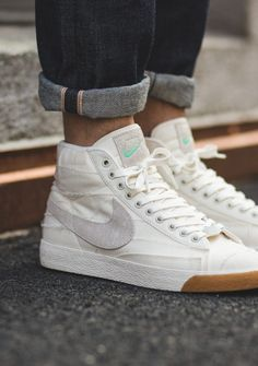 aacc26ce5896 Details about Scarpe Nike Blazer Mid High Retro sneakers white team ...