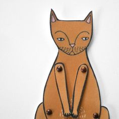 kitty cat moveable paper doll in ginger by JordanGraceOwens, $8.00