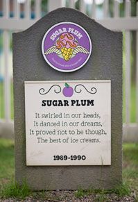 The Ben and Jerry's Flavor Graveyard is always entertaining upon a visit to the factory in Vermont! Ben And Jerrys Ice Cream, Vermont, Plum, Sugar, Entertaining, Make It Yourself, Love, Ice Cream Flavors, Amor