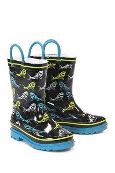 Shark Sign Rain Boot (Little Kid) by Western Chief Kids on @HauteLook