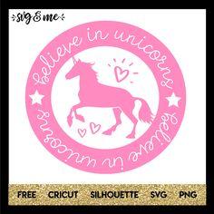 Believe in Unicorns Cricut Vinyl, Svg Files For Cricut, Cricut Air, Unicorn Party, Unicorn Birthday, Cricut Tutorials, Cricut Ideas, Disney Silhouettes, Surprises For Her
