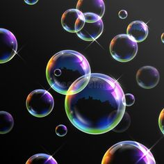 Photo about Illustration of Realistic transparent soap bubbles. Illustration of molecule, background, foam - 71361511 Bubble Drawing, Bubble Painting, Bubble Art, Bubble Tattoo, Black Paper Drawing, Bubbles Wallpaper, Blowing Bubbles, Circle Art, Soap Bubbles
