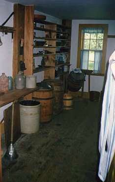 Pantry at Almanzo Wilder's boyhood home in Malone (Burke), NY. Pioneer Girl, Ingalls Family, Garth Williams, Family World, Laura Ingalls Wilder, Half Pint, Tiny House Cabin, Country Primitive, Authors
