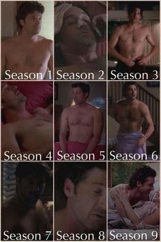 Grey's Anatomy - Derek in 9 seasons!