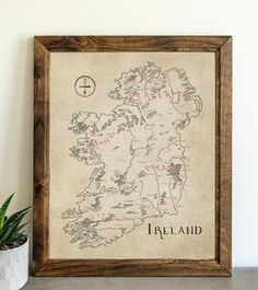 Ireland – Lord of Maps Make A Map, Card Stock, Ireland, Vintage World Maps, How To Draw Hands, Lord, History, Canvas, Drawings
