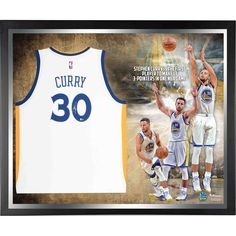 Stephen Curry Golden State Warriors Fanatics Authentic Framed Autographed White Swingman Jersey NBA Record 13 3-Pointers Collage - $1399.99