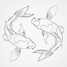"Koi fish are the domesticated variety of common carp. Actually, the word ""koi"" comes from the Japanese word that means ""carp"". Outdoor koi ponds are relaxing. Koi Fish Drawing, Fish Drawings, Art Drawings Sketches, Koi Fish Tattoo, Sketch Drawing, Koi Art, Fish Art, Arte Inspo, Fish Sketch"