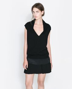 Image 1 of COMBINATION SILK TOP from Zara