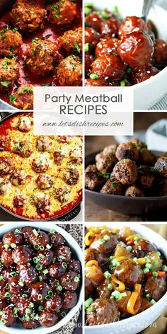 Best Party Meatball Recipes: Over 30 meatballs recipes! Perfect appetizers for parties, holidays and game day. Best Party Meatball Recipes: Over 30 meatballs recipes! Perfect appetizers for parties, holidays and game day. Party Food Meatballs, Best Meatballs, Appetizer Meatballs Crockpot, Cocktail Meatballs Crockpot, Recipes With Meatballs, Frozen Meatball Recipes, Cocktail Sausages, Asian Meatballs, Sweet And Sour Meatballs