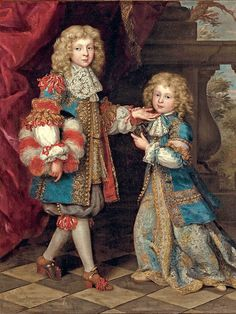 Portrait of two brothers by Henri Gascar (1635 –1701)