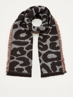 V by Very Leopard Stripe Scarf - Multi Leopard Print Scarf, Striped Scarves, High Leg Boots, Long Toes, Scarf Styles, Casual Looks, Snug, Latest Fashion, Dress Outfits