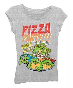 Look at this #zulilyfind! TMNT 'Pizza Party!!!' Tee - Girls by Teenage Mutant Ninja Turtles #zulilyfinds