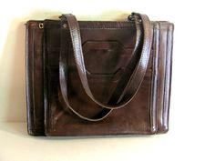Vintage brown leather laptop hand / by dirtybirdiesvintage on Etsy, $40.00
