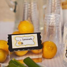 Bumble Bee Food Tents Birthday Party - Black & Yellow