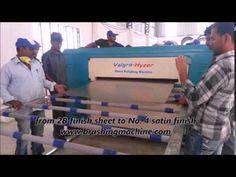 Sheet Polishing single station brushing machine from valgro India