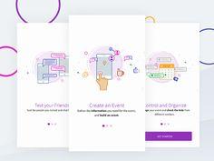 Walkthrough - illustrated splash screens by Amit Hingnekar #Design Popular #Dribbble #shots