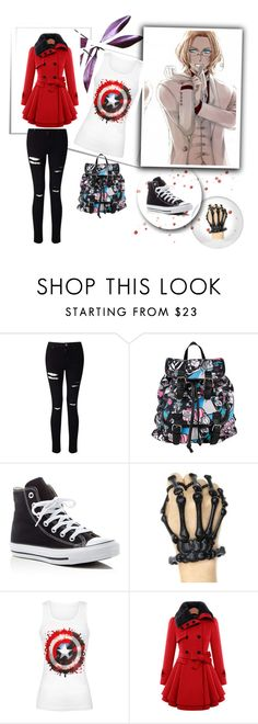 """""""Danny"""" by ashleeramme ❤ liked on Polyvore featuring Miss Selfridge, Disney, Converse and Souda"""