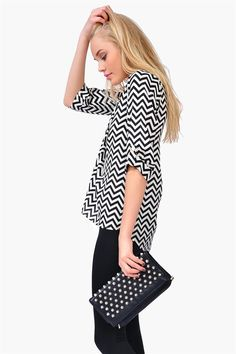 Sultan Blouse - Black/White-love the top. Not a big fan of the bag though.