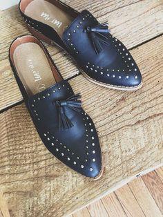 a6c161ea3ca20 Montana Studded Tassel Loafer Mule