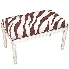 Chocolate Zebra Bench