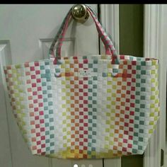 Kate spade bag NWOT Brand new xlarge woven bag..lovely colors.  Great summer or beach bag kate spade Bags Totes