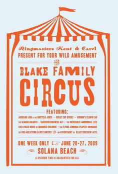 family reunion- circus theme