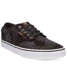 Vans Men'S Atwood Deluxe Flora Sneakers, Black
