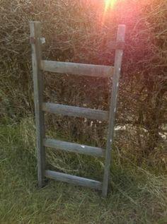 Oude Brocante Schilderstrap Ladder 110 cm