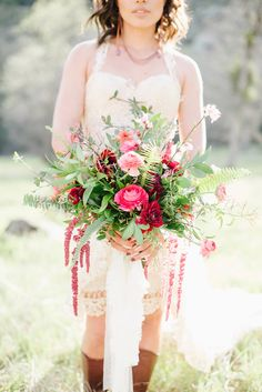 pantone marsala bouquet - photo by Shannon Rosan Photography http://ruffledblog.com/eco-friendly-california-wedding-with-marsala #bouquets #weddingbouquet #flowers