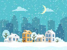 Snow Vectors, Photos and PSD files Snow Vector, Print Wallpaper, Winter Landscape, Adobe Illustrator, Vector Free, Illustration, Vector Christmas, Painting, Small Houses