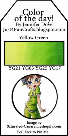 Color of the Day 99 yellow green