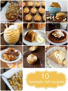 10 Fantastic Fall Recipes + enter to win the Ultimate Fall Giveaway!  www.crumbsandchaos.net
