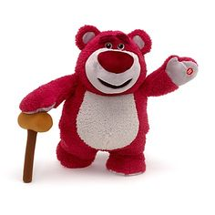 #Toy #Story Talking Lotso. This star of Toy Story 3 looks like Lotso, smells like #Lotso and even sounds like Lotso. Strawberry scented, it has posable arms and legs and, with a press of a paw, he speaks 11 different phrases. Don't forget the batteries!