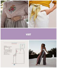 Kanaviçe Nakışlı Pudra Pembe Triko Pants and skirts for women