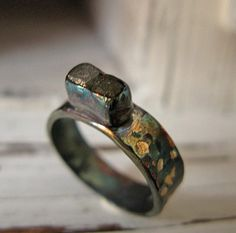 Diamond Cube Ring by HotRoxCustomJewelry on Etsy, $205.00