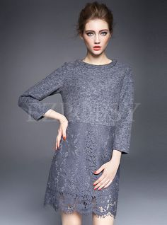 Shop for high quality Crochet Hollow Wool Blend Dress online at cheap prices and discover fashion at Ezpopsy.com