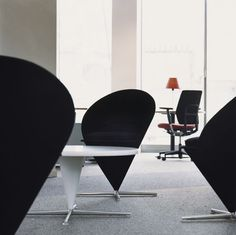 The Cone Table and the Cone Chair, both created by Verner Panton, are a perfect match.
