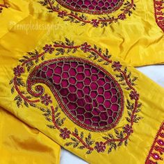 White that jells just like that with any other color? ❤️… White that jells just like that with any other color? Cutwork Blouse Designs, Saree Blouse Neck Designs, Simple Blouse Designs, Embroidery Neck Designs, Stylish Blouse Design, Dress Neck Designs, Bridal Blouse Designs, Aari Embroidery, Simple Embroidery