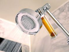 This filter that will shower you with your daily dose of vitamin C. 26 Ingenious Products You Need Every Time You Shower Best Shower Filter, Shower Water Filter, Vitamin C Shower Filter, Take A Shower, Master Shower, Master Bathroom, Cool Rooms, Shower Heads, Cool Gadgets