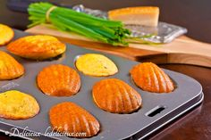 polenta parmesan chive garlic madeleines http://www.ledelicieux.com/2011/04/08/fun-friday-polenta-parmesan-chive-garlic-madeleines/?utm_source=feedburner&utm_medium=feed&utm_campaign=Feed%3A+Delicieux+%28Delicieux%2