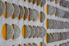 mønster/tekstur på vægge med filt