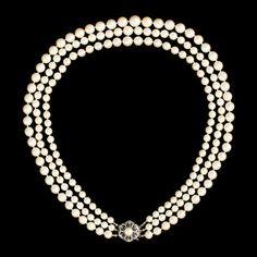 Vintage necklace, 18K gold, pearls.