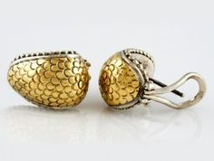 $299.00     18 Karat + 925 John Hardy Two-Tone earrings omega back Price $299.00 Inventory Item #: I-10117 Like everything .. Jewelry Designers have their followers.. People come into Westchester Gold looking just for John Hardy Pieces to add to their collection.. if you like John Hardy .. and visit the website... Please like and re-pin... #Gold # Silver #John Hardy #Jewelry http;//westchestergold.com