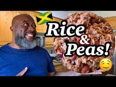 How to make Jamaican RICE and PEAS! - YouTube Jamaican Rice, Jamaican Recipes, Food Dishes, Side Dishes, Dishes Recipes, Cooking Videos, Food Videos, Yellow Rice Recipes, Rice And Peas
