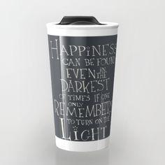 "Harry Potter - Albus Dumbledore quote ""Happiness""  Travel Mug"