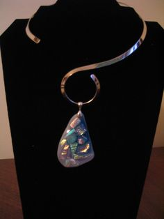 Another piece of fine dichroic jewelry I made a few years ago
