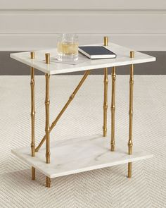 Griffith Marble Coffee Table White use as two side tables