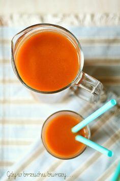 """Domowy sok marchwiowo – owocowy """"kubuś"""""""