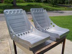 dull aluminum bomber seats